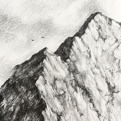 Freehand mountain sketch Dimensions given are of the actual drawing not including the frame. Abstract Line Art, Abstract Landscape, Mountain Sketch, Gold Drawing, Mountain Pictures, Winter Quilts, Nature Drawing, Art Drawings, Drawing Art