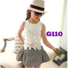 Korean top chanel skirt girl set (G110) || size 80-120 || IDR 138.000