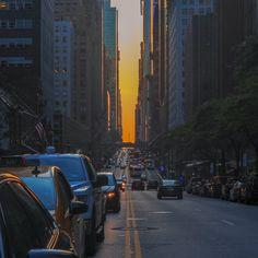 NYC at sunset.