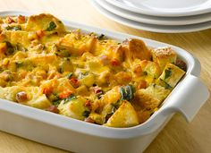 Another health(ier) traditional option for Easter--It's What's for Breakfast! AllWhites and Better'n Eggs: Ham and Vegetable Strata Recipe