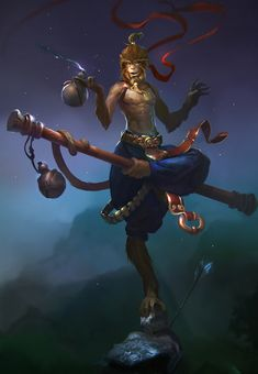 Monkey king by ~Zoonoid on deviantART/ Visual of Yambo Character Concept, Character Art, King Tattoos, Journey To The West, Monkey King, Character Design Inspiration, Character Illustration, Fantasy Creatures, Kung Fu