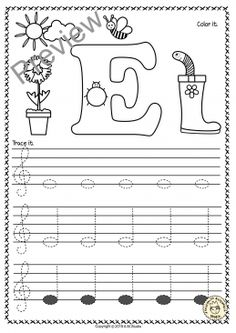 Treble Clef Tracing Music Notes Worksheets for Spring * Anastasiya Multimedia Studio Music Lessons For Kids, Music For Kids, Piano Lessons, Piano Songs For Beginners, Piano Teaching, Learning Piano, Music Worksheets, Treble Clef, Music Classroom