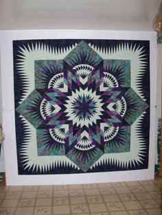 Hawaiian Star ~ Quiltworx.com Terri Kohlbeck This quilt just got juried in Paducah!
