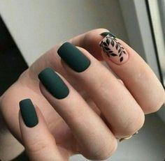 Nail Art Designs, Acrylic Nail Designs, Nails Design, Latest Nail Designs, Short Fake Nails, Long Nails, Dark Nails, Solid Color Nails, Nail Colors
