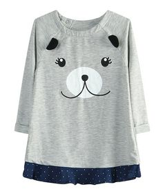 This Gray Bear Face Tunic - Infant is perfect! #zulilyfinds
