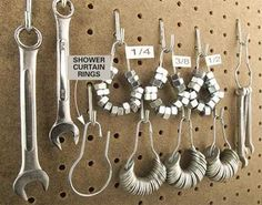 Clever! Use shower rings to organize your washers, nuts and small tools! | Smart Recycle Ideas