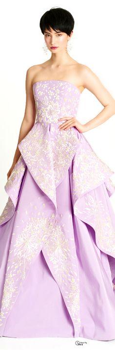Oscar de la Renta ● Pre-Fall 2014, Purple Gown