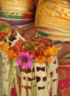 Colorful Balinese wedding bouquets | One & Only Bali Weddings | Bali, Indonesia