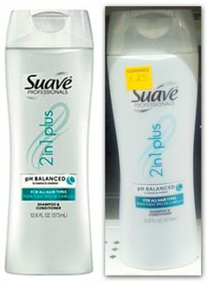 Suave Professionals 2 In 1 Shampoo & Conditioner, Only $0.25 at Dollar General!