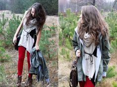 Romwe Jacket, Asian I Candy Bag, Ax Paris Pants, Papilion Boots, H Scarf, Vero Moda Tunic
