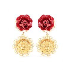 Dolce & Gabbana Embellished Clip-on Earrings