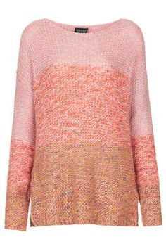 Knitted Ombre Stitch Jumper