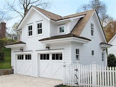 Charming. Two-Car Garage + Carriage House  ~ Great pin! For Oahu architectural design visit http://ownerbuiltdesign.com