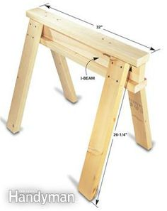 Sawhorse details -for our patio table.