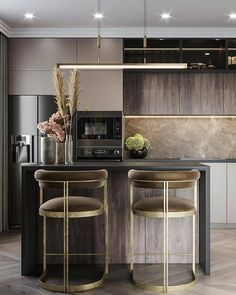 Low Budget Home Decorating Can Really Give Your Home a Lift Kitchen Room Design, Modern Kitchen Design, Home Decor Kitchen, Home Kitchens, Loft Interior Design, Home Interior, Kitchen Interior, Küchen Design, House Design