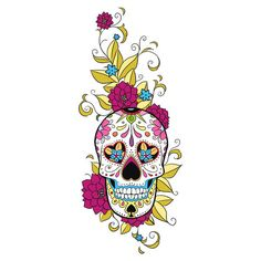 r girly sugar skull thigh tatoo Sugar Skull Design, Sugar Skull Art, Sugar Skulls, Sugar Skull Painting, Skull Tattoos, Love Tattoos, Flash Tattoos, Arm Tattoos, Tatoos