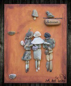 A három jóbarát ❤️ #akőlelke #papptimi #kavicsképek#stoneart #pebbleart #kavicsművészet #stone #pebble
