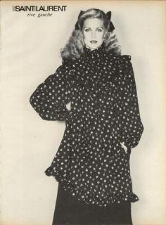 Yves Saint Laurent Rive Gauche F/W 1977 September US Vogue.