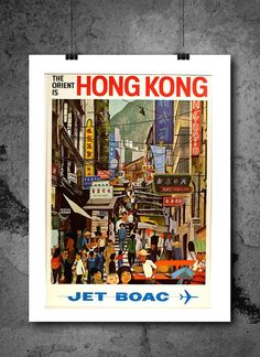 Hong Kong City Travel Poster Print 8x10 Print. Hong Kong City Travel Poster Print 8x10 Print - HIGH QUALITY PRINTS - Focusing on making quality prints for the Home & Office. Introducing Our : Vintage Travel Collection -This 8x10 print is Ready-To-Frame and will fit perfectly in any Frame with Mat when delivered. BEAUTIFUL WALL ART: Our posters provide daily inspiration, beauty, tranquility and are the perfect choice for the office, dorm room, classroom or home. READY TO FRAME: These 8x10...