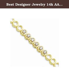 Best Designer Jewelry 14k AA Diamond add-a-dia bracelet. 14k AA Diamond add-a-dia bracelet Casted - Polished - 14k Yellow gold - Genuine - Diamond - Box catch - AA quality Size: 0 Length: 0 Weight: 19.16 Jewelry item comes with a FREE gift box. Re-sized or altered items are not subject for a return. 14k AA Diamond add-a-dia bracelet Product Type:Jewelry Jewelry Type:Bracelets Material: Primary:Gold Material: Primary - Color:Yellow Material: Primary - Purity:14K Chain Length:7 in Chain...