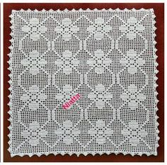 (4) Name: 'Crocheting : Square Filet Doilies S+M