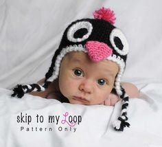 Penguin hat, crochet pattern to buy on Etsy