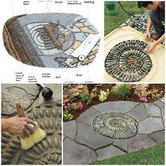 DIY How to Make a Pebble Mosaic