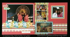 Scrapbooking California Adventure and Disneyland. CTMH Flip Flaps add extra photo and journaling spaces for all those photos. Click here for tips on how to get more on a page without the clutter.  #SomethingAboutSharing #Disneyland #CaliforniaAdventure