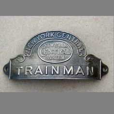 New York Central Railroad Trainman Hat Badge found on Ruby Lane