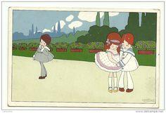 Cartes Postales /a bertiglia  enfants dessin - Delcampe.fr