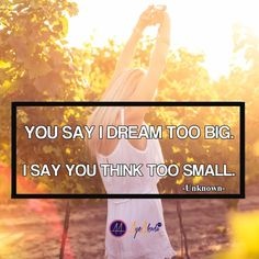 Stop thinking small you have no clue what you are capable of. Dream Big.  http://ayeakoda.com  #deambig #entrepreneur #workfromhome #networking #hustle #laptoplifestyle #luxury #luxurylifestyle #makemoney #makemoneyonline #fempreneur #ladypreneur #mlm #leadership #jeunesse #quoteoftheday #igquotes #inspire #inspirational #fitmom #weightloss #weightlossjourney #fitgirls #bodybuilding #believe #action #doer