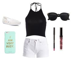 """"""""""" by aly-stagich on Polyvore featuring Barbour International, TOMS and ban.do"""