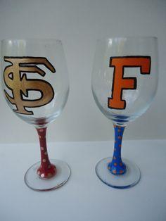 FSU Wine Glass, $12