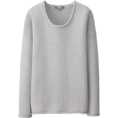 UNIQLO Women Color Nubby Sweater ($15) ❤ liked on Polyvore featuring tops, sweaters, colorful tops, uniqlo, multi colored sweater, roll neck sweater and cotton sweaters