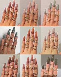 """If you're unfamiliar with nail trends and you hear the words """"coffin nails,"""" what comes to mind? It's not nails with coffins drawn on them. It's long nails with a square tip, and the look has. Cute Acrylic Nails, Acrylic Nail Designs, Acrylic Nails For Fall, Gorgeous Nails, Pretty Nails, Simple Fall Nails, Cute Nails For Fall, Hair And Nails, My Nails"""