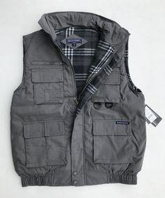 SportsX Mens Oversized Multi Pockets with Zips Parka Jackets Solid Vest