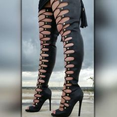 (adsbygoogle = window.adsbygoogle || []).push({}); EDITOR'S NOTE Nelly Bernal Lace Up Thigh High Boots Make a statement with those impressive boots by super talented Nelly Bernal. Available to buy in 2 colors…