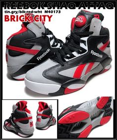0fa52e46b82 REEBOK Shaq Attaq PUMPS Brick City Tin Grey Black Red Men s US Sz 9 M40173  NEW  Reebok  AthleticSneakers