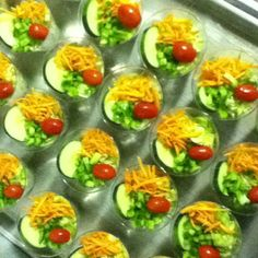 Mini Garden Salads!!!! Great for Backyard BBQ!
