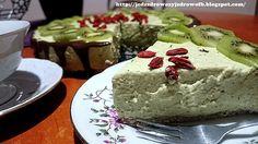 Jedz zdrowo żyj zdrowo: Bazylia z kiwi w postawci sernika na owsiano-migda...