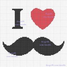 free i ♥ moustache