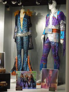 Julie Walters and Stellan Skarsgard Mamma Mia movie costumes...