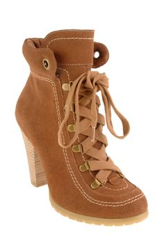 Brown Lace Up Ankle Boot