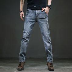 Men Spring Autumn Jeans Denim Pants Visit: www.menpant.com/product/men-spring-autumn-jeans-denim-pants/ 2020 Men Spring Autumn Jeans Anti-theft Zipper Jeans Men Denim Pants Casual Blue Straight Cotton Men's Smart Clothing Size 38 40 #MenPant #men #pants #usa #uk #london