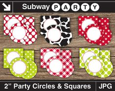 Farm Theme Party Printable Cupcake Toppers. INSTANT by subwayParty, $4.99