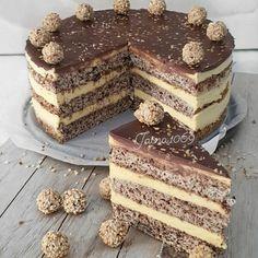 Dessert Cake Recipes, Fudge Recipes, Cupcake Recipes, Easy Desserts, Baking Recipes, Torte Recepti, Kolaci I Torte, Torte Cake, Croatian Recipes
