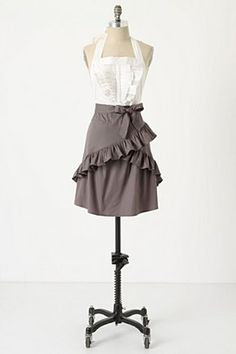 something like this?  i kind of LOVE this apron even if it's not quite what you're looking for for this occasion!!!