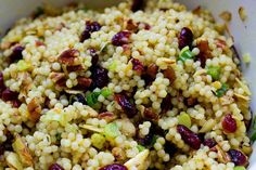 Orange cranberry pecan couscous salad  (Copycat Whole Foods recipe). Switch out to quinoa for gluten-free.