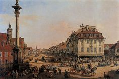 XVIII century Warsaw by Bernardo Bellotto (Canaletto)