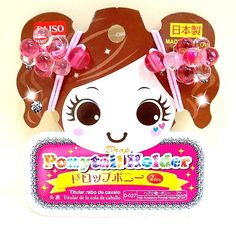 DAISO JAPAN Hair Accessories Drop Ponytail Holder 2pcs Pink F/S Japan #DAISO